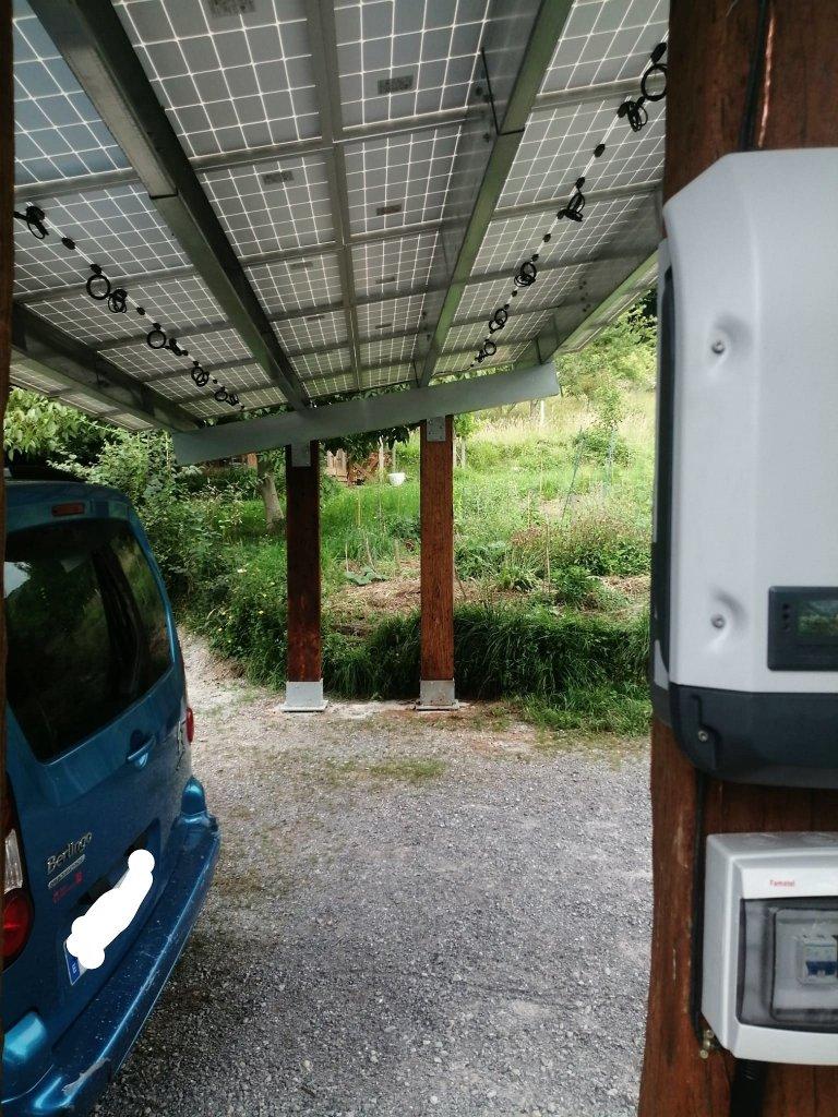 Pérgola Fotovoltaica de Autoconsumo en el Caserío Larra. Mañaria 3